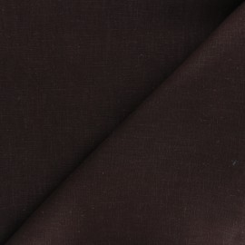 Plain ramie fabric - chocolate x 10cm