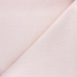Plain ramie fabric - light pink x 10cm