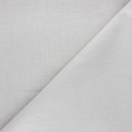 Plain ramie fabric - pearl grey x 10cm
