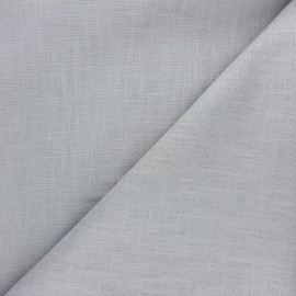 Plain ramie fabric - light grey x 10cm
