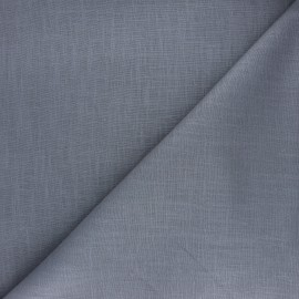 Plain ramie fabric - grey x 10cm