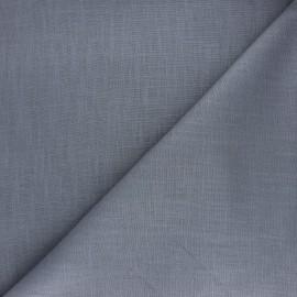 Tissu ramie uni - gris x 10cm