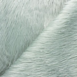 Lurex fur fabric - opaline green x 10cm