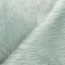 Tissu fourrure lurex - opaline x 10cm