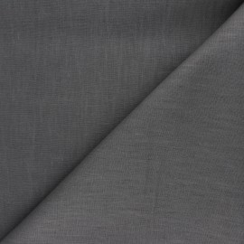Plain ramie fabric - mouse grey x 10cm