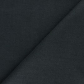 Plain ramie fabric - dark grey x 10cm