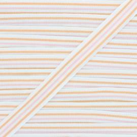 22mm ribbon - orange/pale pink Stripes x 1m