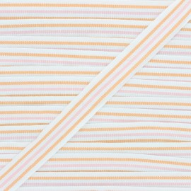 Ruban Stripes 22mm - orange/rose x 1m