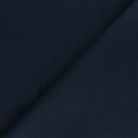 Plain ramie fabric - navy blue x 10cm
