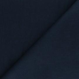 Tissu ramie uni - bleu marine x 10cm