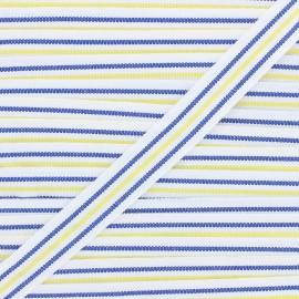 22mm ribbon - navy blue/yellow Stripes x 1m