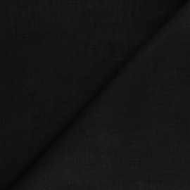 Plain ramie fabric - black x 10cm