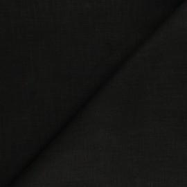 Tissu ramie uni - noir x 10cm