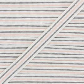 22mm ribbon - brown/pink Stripes x 1m