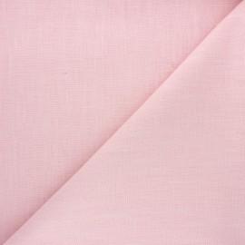 Tissu ramie uni - rose pastel x 10cm