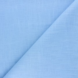 Plain ramie fabric - pastel blue x 10cm