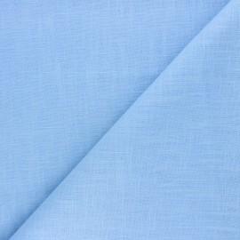 Tissu ramie uni - bleu pastel x 10cm