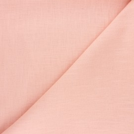 Plain ramie fabric - peach x 10cm