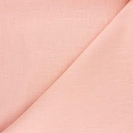 Tissu ramie uni - pêche x 10cm