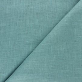 Plain ramie fabric - teal x 10cm
