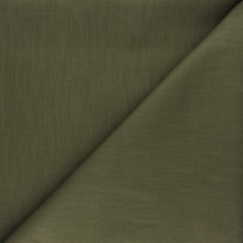 Plain ramie fabric - khaki green x 10cm