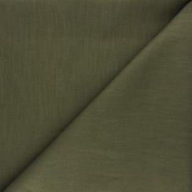 Tissu ramie uni - vert kaki x 10cm