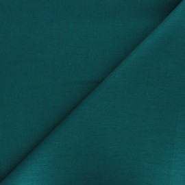 Plain ramie fabric - emerald green x 10cm