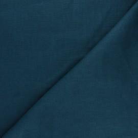 Tissu ramie uni - bleu canard x 10cm