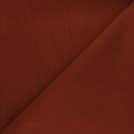 Plain ramie fabric - rust x 10cm