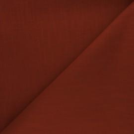 Tissu ramie uni - rouille x 10cm
