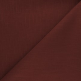 Plain ramie fabric - terracotta x 10cm