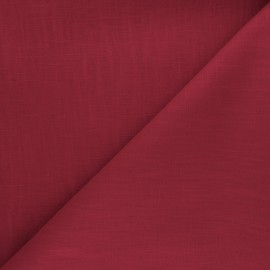 Tissu ramie uni - rouge fraise x 10cm
