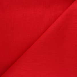 Plain ramie fabric - red x10cm