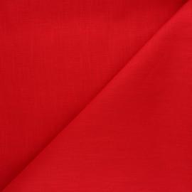 Tissu ramie uni - rouge x 10cm