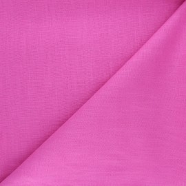 Plain ramie fabric - candy pink x10cm
