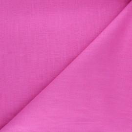 Tissu ramie uni - rose bonbon x 10cm