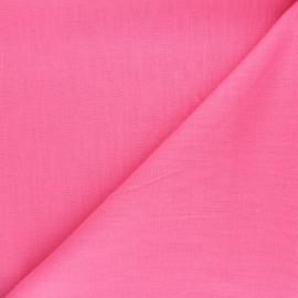 Plain ramie fabric - pink x10cm