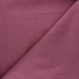 Plain ramie fabric - rosewood x10cm