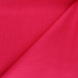 Plain ramie fabric - raspberry x10cm