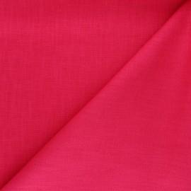 Tissu ramie uni - framboise x 10cm