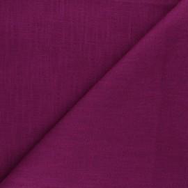 Plain ramie fabric - violine x10cm