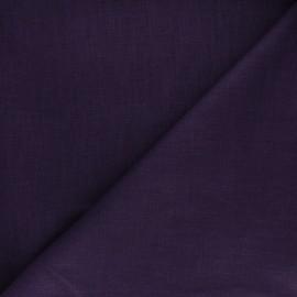 Tissu ramie uni - aubergine x 10cm