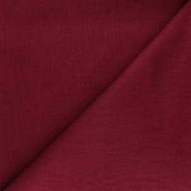 Plain ramie fabric - burgundy x10cm