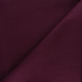 Plain ramie fabric - purple red x10cm