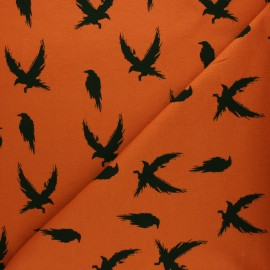 Bloome Copenhagen cotton terrycloth fabric - pumpkin Crow x 10 cm