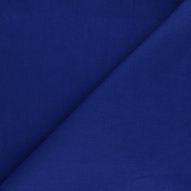 Plain ramie fabric - blue x10cm