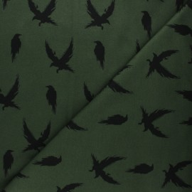 Bloome Copenhagen cotton terrycloth fabric - khaki Crow x 10 cm