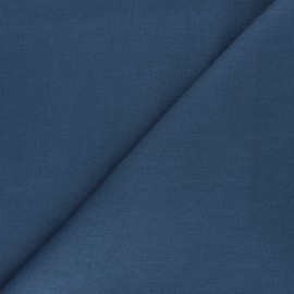 Plain ramie fabric - steel grey x10cm