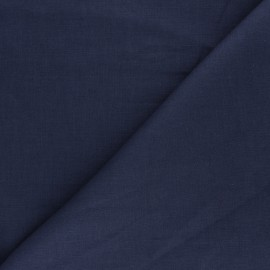 Plain ramie fabric - indigo grey x10cm
