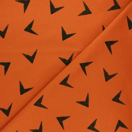 Bloome Copenhagen cotton terrycloth fabric - pumpkin Arrows x 10 cm